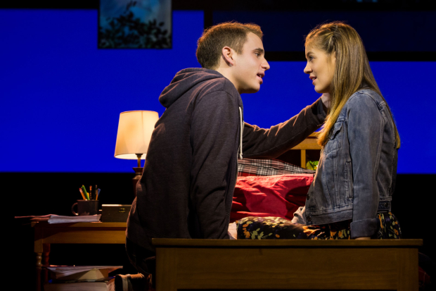 Ben Platt and Laura Dreyfuss in a scene from the Tony-winning musical Dear Evan Hansen.