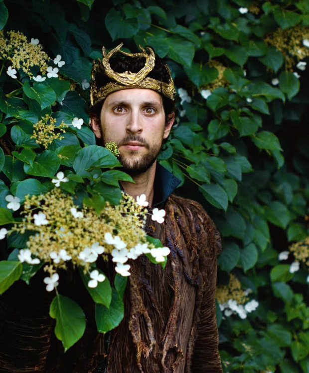 David Bertoldi plays Oberon in Shakespeare & Company's production of A Midsummer Night's Dream, directed by Jonathan Croy and Douglas Seldin.