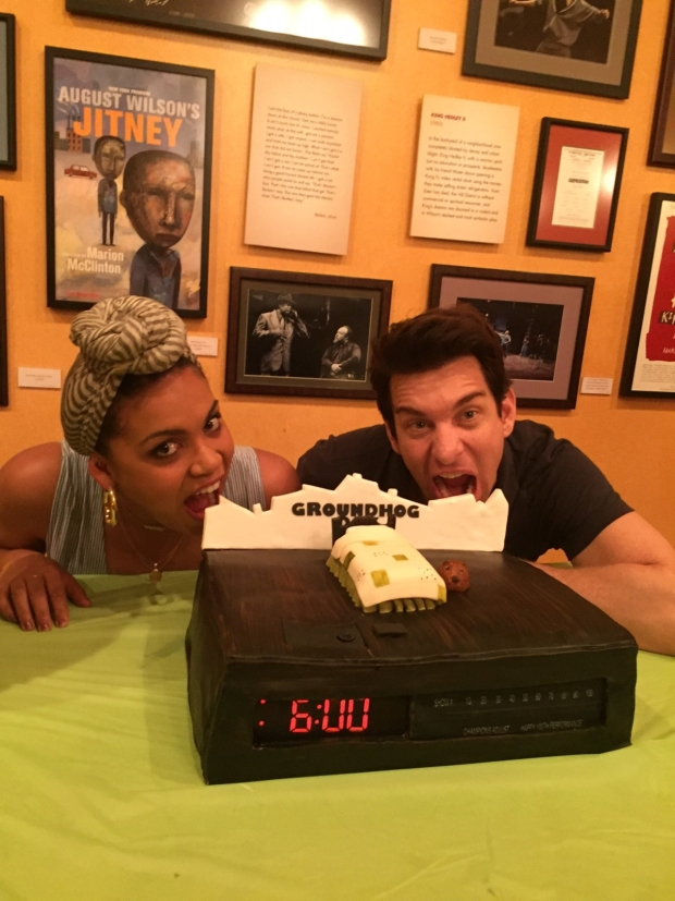 Barrett Doss and Andy Karl can't wait to sink their teeth into this one of a kind creation.