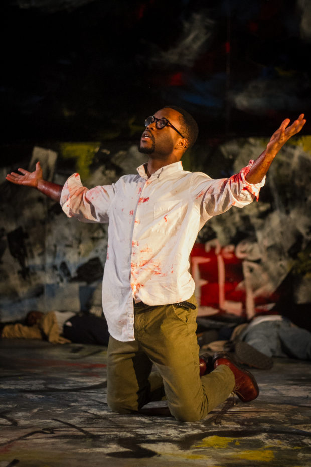 David Glover stars as Brutus in Julius Caesar, directed by James Dean Palmer, at the Gallery Players.