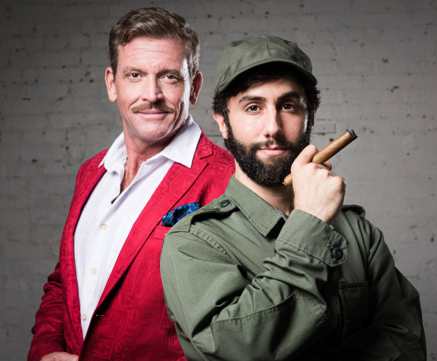 Jonathan Steward and George Psomas as Errol and Fidel's title characters Errol Flynn and Fidel Castro.