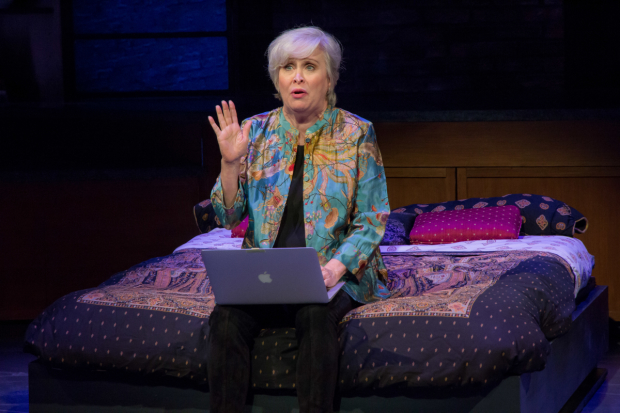 Nancy Opel stars in Curvy Widow, directed by Peter Flynn, at the Westside Theatre.