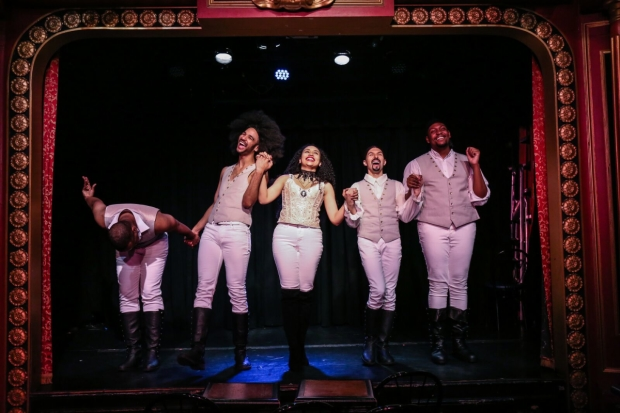 Performances of Spamilton continue at the 47th Street Theatre.