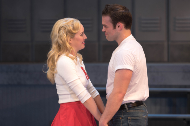 Liana Hunt (left) and Sam Wolf (right) in the John W. Engeman Theater's current production of Grease.