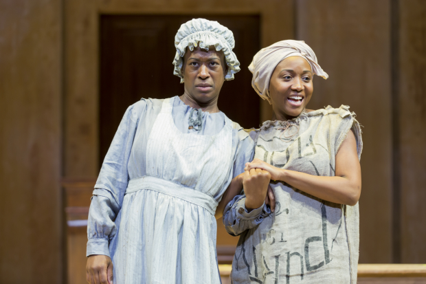 Erika Rose and Shannon Dorsey in An Octoroon, directed by Nataki Garrett, at Woolly Mammoth Theatre Company.