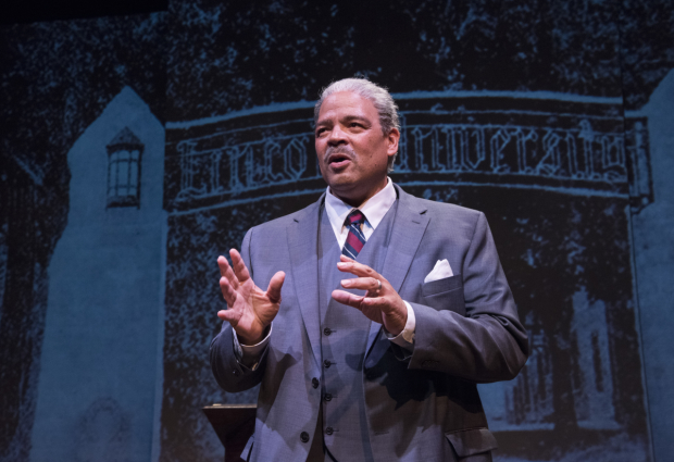 Brian Anthony Wilson as Thurgood Marshall in Olney Theatre Center's production of Thurgood, directed by Walter Dallas.