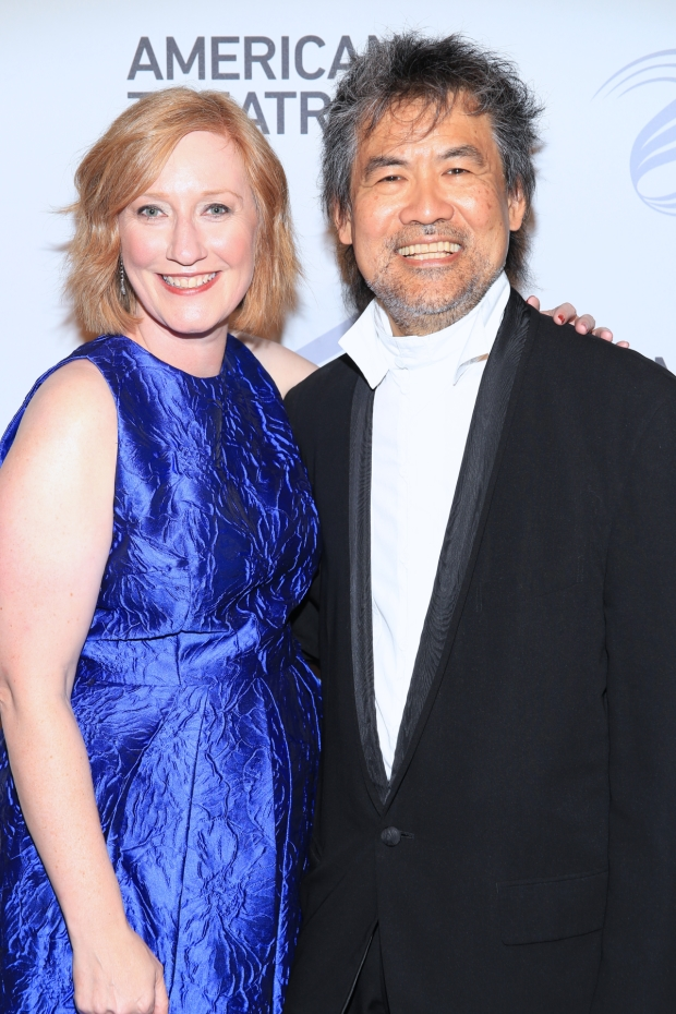 American Theatre Wing president Heather Hitchens and board chairman David Henry Hwang.