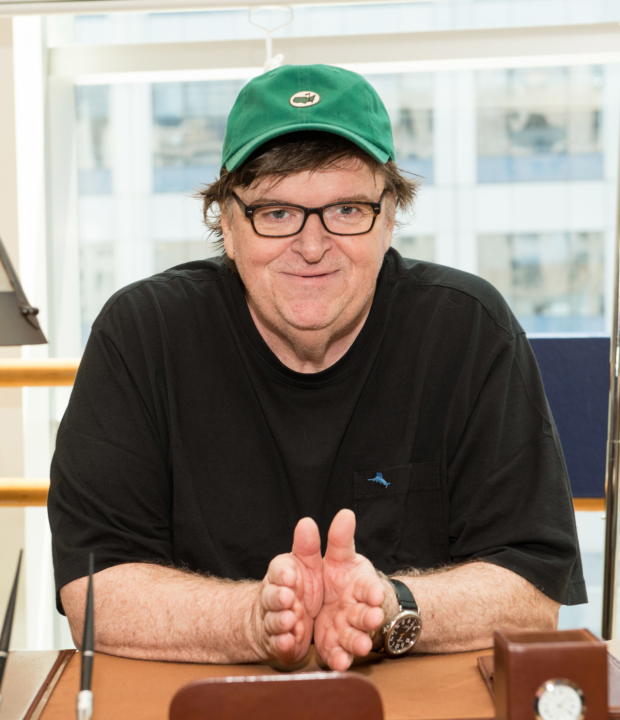 Michael Moore's Broadway debut, The Terms of My Surrender, begins its 12-week engagement tomorrow night.