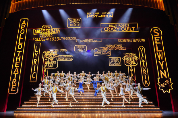 The title number in 42nd Street at the Theatre Royal Drury Lane.