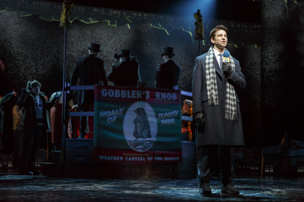 Andy Karl stars in Groundhog Day, which is ending its run at the August Wilson Theatre.
