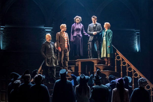 Alex Price, Paul Thornley, Noma Dumezweni, Jamie Parker, and Poppy Miller, who will reprise their West End roles in Harry Potter and the Cursed Child on Broadway.
