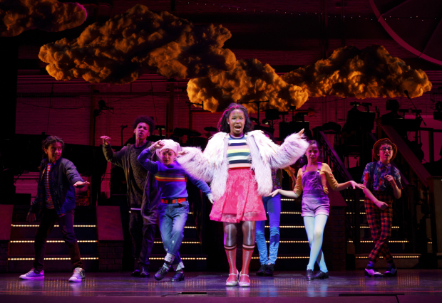 Taylor Caldwell and company in a number from Encores! Really Rosie, directed by Leigh Silverman, at New York City Center.