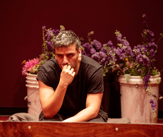 Oscar Isaac leads the cast of Hamlet at the Public Theater.