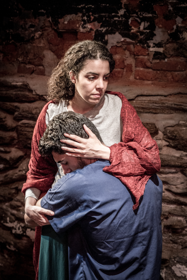 Mouna R'miki and Shayan Sobhian star in Irene Kapustina's Lost and Guided at Under St. Marks.