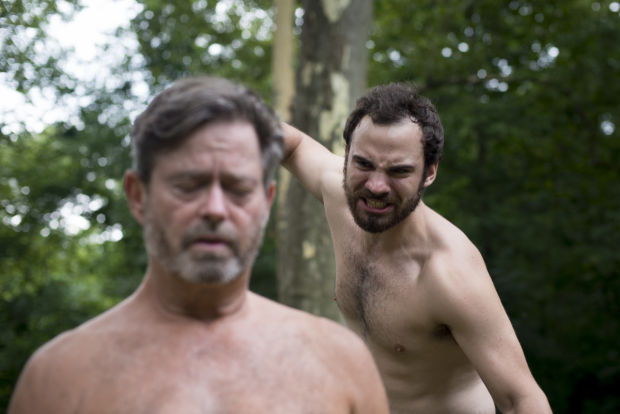 John L. Payne and Jake Austin Robertson star in William Shakespeare's Hamlet, directed by Pitr Strait, at Prospect Park.