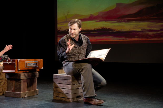 P.J. Griffith stars as John Banvard in Georama: An American Panorama Told on Three Miles of Canvas, directed by West Hyler, for NYMF at the Peter Jay Sharp Theater.