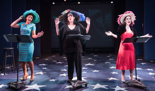 Stephanie Umoh, Christine Pedi, and Stephanie D'Abruzzo star in Jerry's Girls, directed by Pamela Hunt, at York Theatre Company.