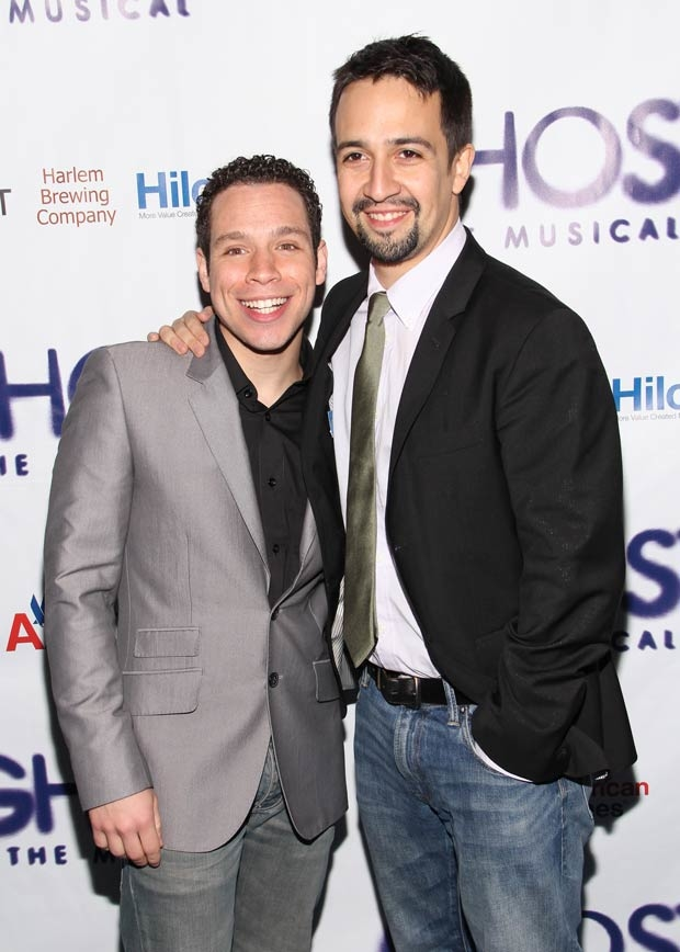 Robin De Jesús (left), who played Sonny in the original Broadway production of In the Heights, will be playing Usnavi in the Olney Theatre Center and Round House Theatre coproduction of the Lin-Manuel Miranda (right) musical.
