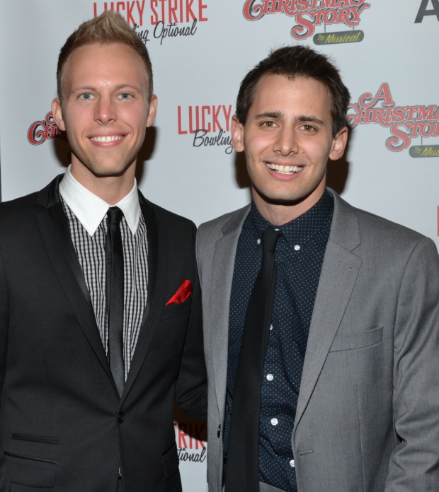 Justin Paul and Benj Pasek are the composers of A Christmas Story.