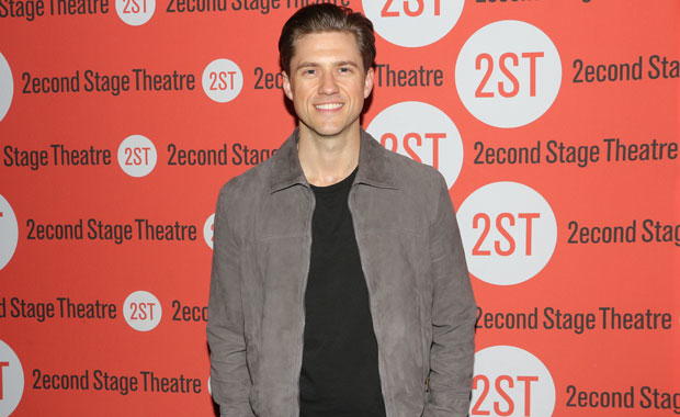 Aaron Tveit as Robert in Stephen Sondheim and George Furth's Company, directed by Julianne Boyd, at Barrington Stage Company.