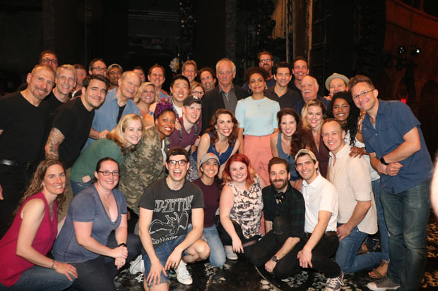 Bill Murray visits the company of Groundhog Day at the August Wilson Theatre.