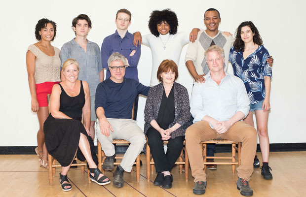 The cast of the Atlantic Theater Company production of On the Shore of the Wide World, directed by Neil Pepe.