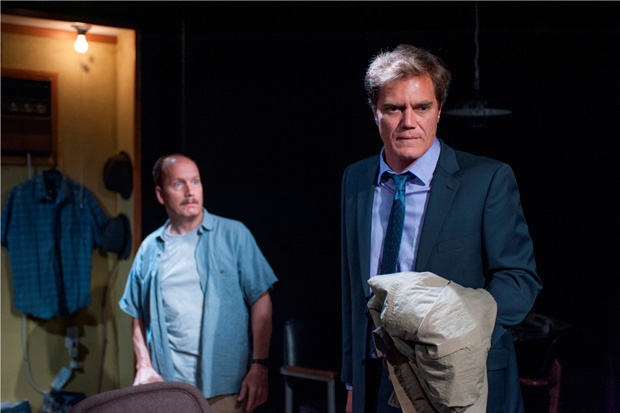 Gus Van Swearingen and Michael Shannon in the 2013 production of Sam Shepard's Simpatico at A Red Orchid Theatre.