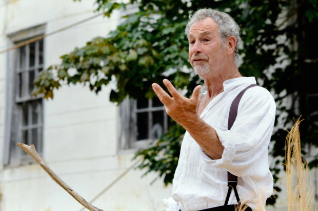 Nigel Gore plays Prospero in William Shakespeare's The Tempest, directed by Allyn Burrows, at Shakespeare and Company.
