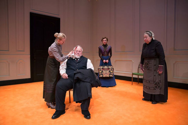 The new cast of A Doll's House, Part 2: Erin Wilhelmi, Stephen McKinley Henderson, Julie White, and Jayne Houdyshell.