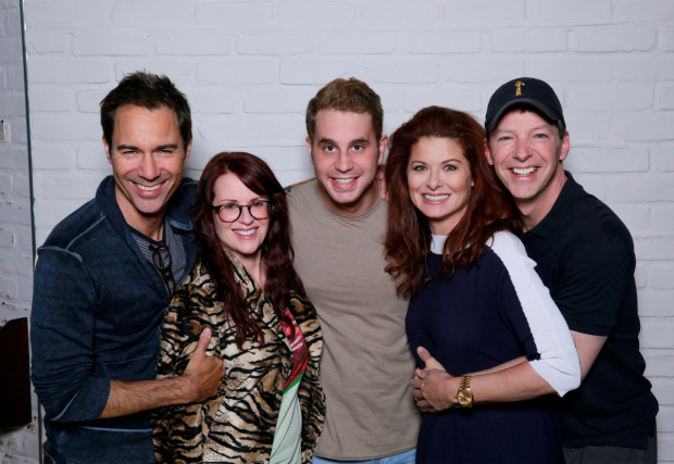 Eric McCormack, Megan Mullally, Ben Platt, Debra Messing, and Sean Hayes.