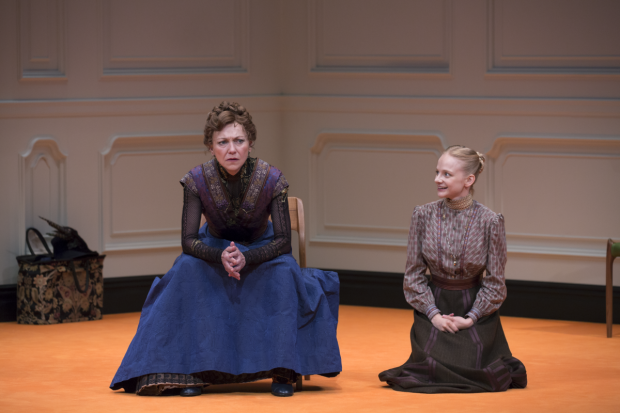 Julie White and Erin Wilhelmi star in A Doll's House, Part 2, directed by Sam Gold, at Broadway's John Golden Theatre.