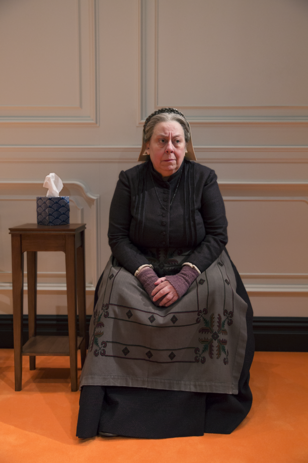 Jayne Houdyshell plays Anne Marie in A Doll's House, Part 2 on Broadway.