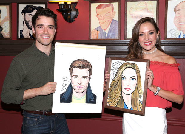 Bandstand costars Corey Cott and Laura Osnes can now hang out together forever via their Sardi's portraits.