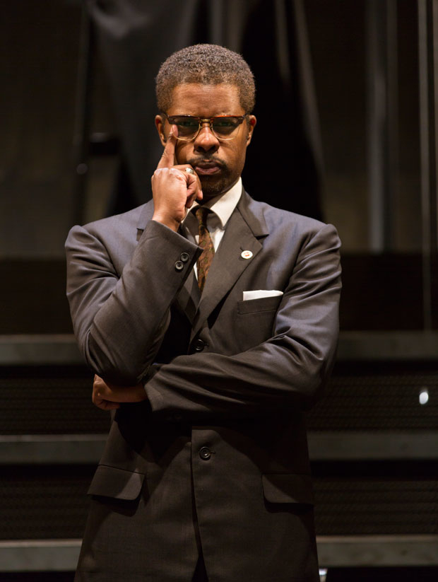 Jimonn Cole in Marcus Gardley's X: Or, Betty Shabazz v. The Nation, which will return for a full off-Broadway run as part of the Acting Company's 2017-2018 season.