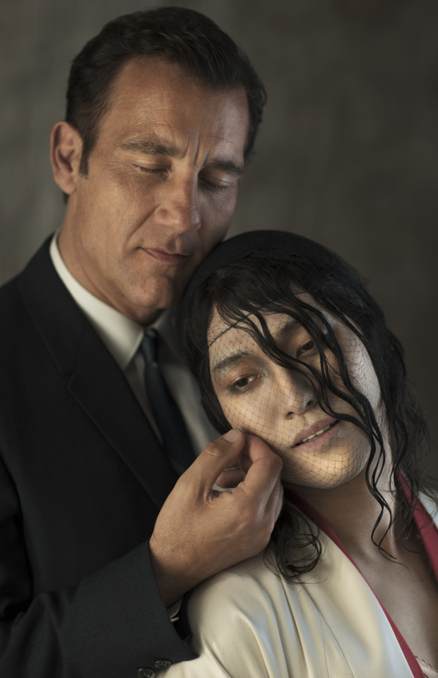 Clive Owen and Jin Ha in a promotional image for the new Broadway revival of M. Butterfly by David Henry Hwang.