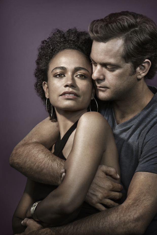 Lauren Ridloff and Joshua Jackson in a promotional image for Children of a Lesser God.