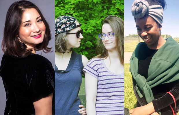 Kaela Garvin, Katie Hathaway, Lilla Goettler, and Uzunma Udeh are the creators behind three of Corkscrew festival's productions at the Paradise Factory.