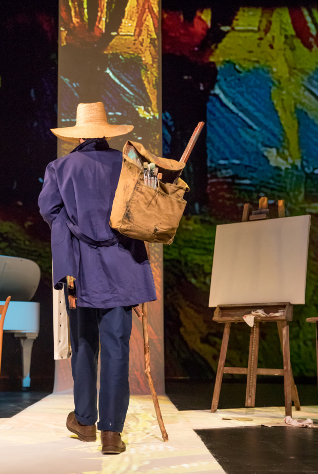Carter Hudson plays Vincent Van Gogh in Van Gogh's Ear at the Pershing Square Signature Center.