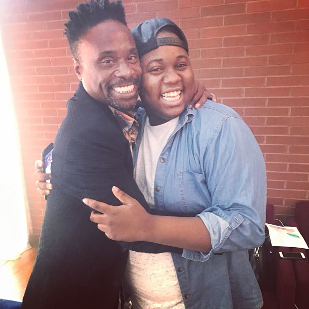 Billy Porter and Alex Newell take a break from teaching to grab a quick photo.