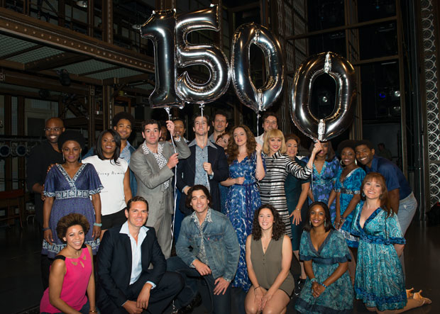 The cast of Beautiful celebrates the show's 1,500th performance.