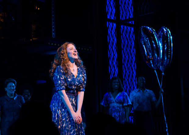 Star Abby Mueller takes a bow at curtain call.