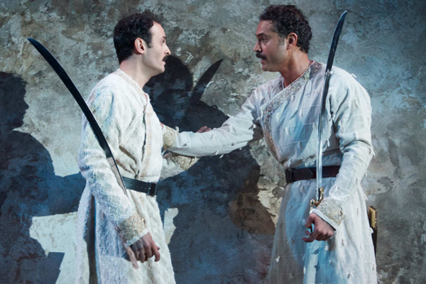 Arian Moayed and Omar Metwally starred in Rajiv Joseph's last play at Atlantic Theater Company, Guards at the Taj.
