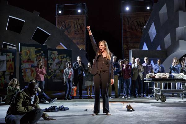 Elizabeth Marvel starred as Marc Antony in the contentious Shakespeare in the Park production of Julius Caesar this past summer. Richard Nelson's new play is about how Joseph Papp's vision of free Shakespeare was always radical and controversial.