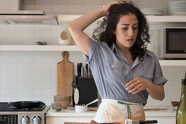 Nadine Malouf stars in Amir Nizar Zuabi's Oh My Sweet Land, which will perform in kitchens across New York.