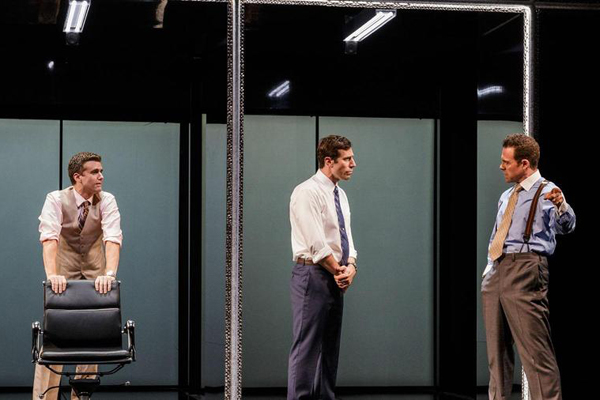 Armando Riesco, Josh Cooke, and Matthew Rauch starred in the world premiere of Ayad Akhtar's Junk at La Jolla Playhouse.