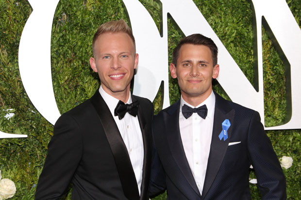 Justin Paul (left) and Benj Pasek (right) will write new songs for the live television broadcast of their Tony-nominated musical A Christmas Story.