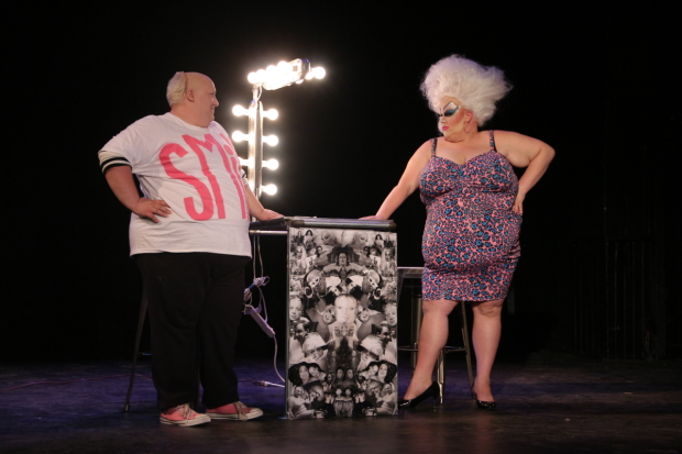 A scene from Divine/Intervention, a production in FringeNYC 2015.
