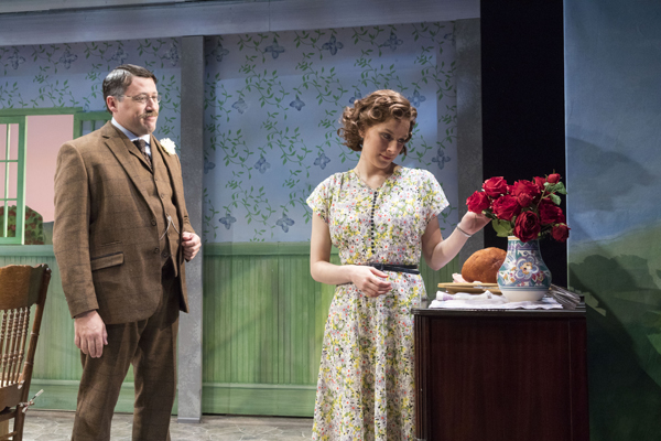 Colin Ryan and Sarah Nicole Deaver star in In the Cellar of My Friend, the second play in Teresa Deevy's The Suitcase Under the Bed, directed by Jonathan Bank, for the Mint Theater Company at Theatre Row.