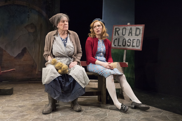 Cynthia Mace and Sarah Nicole Deaver perform in The King of Spain's Daughter, the fourth play in The Suicase Under the Bed at Theatre Row.