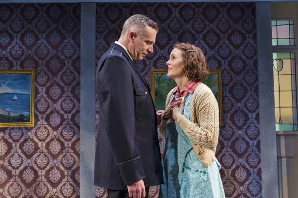 Aidan Redmond and Ellen Adair star in Teresa Deevy's Strange Birth, the first play in The Suitcase Under the Bed, an evening of one-acts directed by Jonathan Bank for the Mint Theater Company at Theatre Row.